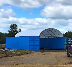 20x40 Shelter Cover Roof Building Conex Overseas Box Shipping Container Kit