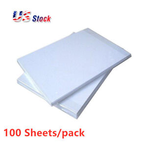 Usa 100 Sheets A4 Dye Sublimation Heat Transfer Paper For Mugs Plates Printing