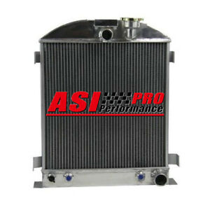 3 Row Aluminum Radiator For 1935 1936 Ford 3 Chopped Grill Shells Chevy Engine