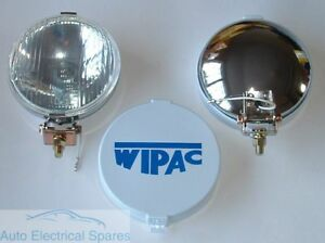 Wipac S6078 5 1 2 Chrome Halogen Driving Fog Lamps 1 X Pair