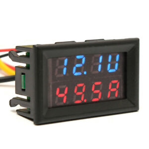 0 28 30 100v 10a Dual Digital Voltmeter Ammeter Led Volt Meter Gauge Blue red