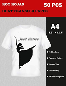 Roy Iron On Transfer Paper 50 Sheets For Light Color T shirt 12 X 8 A4 Heat W