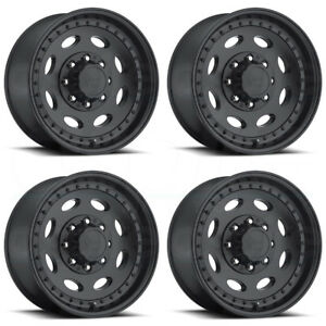 4 new 19 Vision Hd 81 Hauler Single Wheels 19 5x7 5 8x180 25 Matte Black Rims