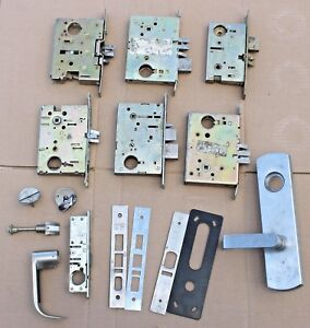 Large Lot Of Used Mortise Parts Misc Door Hardware Adams Rite Baldwin Schlage