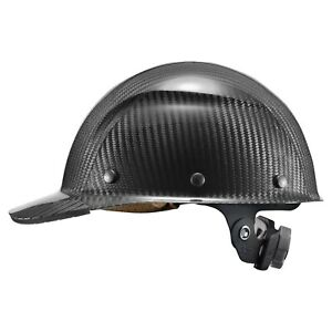Lift Safety Hdcc 17kg Dax Carbon Fiber Cap Style Hard Hat Glossy Black