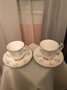 Vintage Red Rose Tea Cup Of Fortune Bone China Cup And Saucer Sets 2
