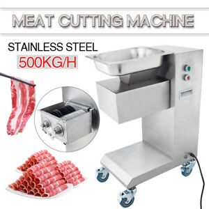 500kg Output 110v Meat Cutting Machine Meat Cutter Slicer With 3mm One Set Blade