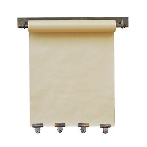 Hanging Note Roll With Four Antique Brass Clips 16 Wide Memo Craft Paper