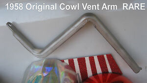Corvette Special 1958 1959 1960 1961 1962 Cowl Vent Arm Off Center Of Cowl V