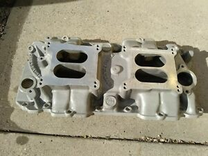 Offenhauser Big Block Chevy Dual Quad Intake Manifold Oval Port Offy 360 Bbc