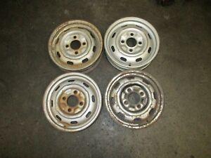 Porsche 914 4 1970 1976 Steel Used Wheels 15 X 4 5 Set Of Four Straight Wheels