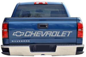 Chevy Tailgate Decal Chevrolet Emblem Silver Gray Sticker Graphic Silverado Bed