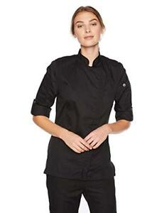 New Chef Works Women s Hartford Chef Coat Black Small Free2dayship Taxfree