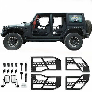 Jeep Wrangler Jk 4 Door Steel Tube Doors With Mirror Fits For 07 18