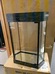 Glass Display Case asfour Crystal Key Lock 3 Shelf Light aci Mode Ct 1021