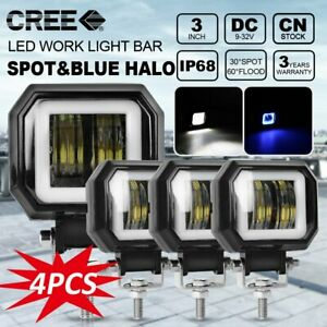 4x 3inch Led Work Light Bars Spot Pods Driving Fog Off road Boat Atv Jeep 12v