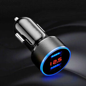 3 1a Usb Car Cigarette Phone Charger Lighter Digital Led Voltmeter Accessories