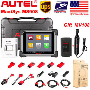 Autel Maxisys Ms908 Obdii Bluetooth Auto Scanner Ecu Coding Tool Better Ms906