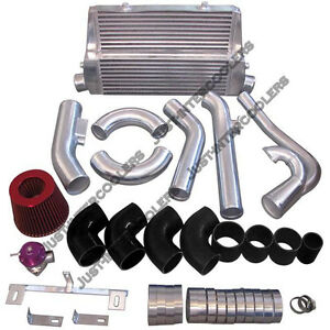 Intercooler Turbo Intake Kit For 83 88 Toyota Truck Hilux 2jz gte Twin Turbo
