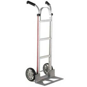 Aluminum Hand Truck 500 Lbs Capacity Moving Push Dolly Cart Dual Handle Silver