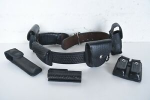 Bianchi b2 Leather Duty Belt W holster Clip Holder Hume Cuff Holster Extras
