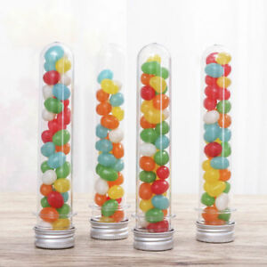 40ml Plastic Lab Test Tubes With Metal Caps Screw Top Candy Bath Salt Container