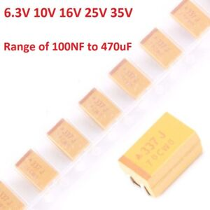 6 3v 35v Avx Various Types Smd Tantalum Capacitors Range Of Values 100nf 470uf