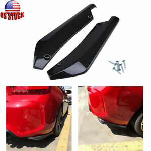 Carbon Rear Bumper Lip Side Skirt Winglets Canards For Bmw F10 F30 F32 F36 F80