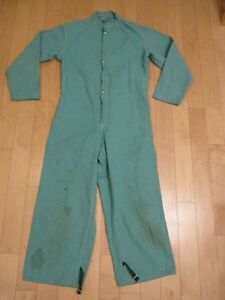 Vtg Protective Wheeler Apparel Flame Proofed Welding Coveralls Large