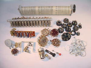 Sylvania Electric Model 140 Tube Tester Misc Hardware Spare Lot Free S h