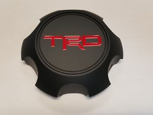 Toyota Trd Matte Black Center Cap Tacoma 4runner Fj Cruiser Ptr20 35111 Bk