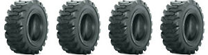 Set Of 4 New 27x10 50 15 Skid Steer Tires 27x10 5 15 8 Ply for Bobcat And More