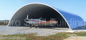 Durospan Steel 40x60x20 Metal Building Airplane Storage Structure Factory Direct