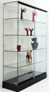 72 Tall All Glass Showcase Display Case Trophy Case With Lock