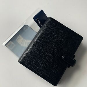 Filofax Finsbury Pocket Organizer Black Leather Planner