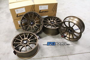 Lenso Bronze Project D Race 1 Wheels 17x7 5 5x100 Fits Scion Frs Subaru Brz Gt86
