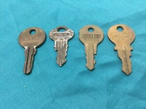 Vintage Star Duo Chicago Greyhill Operator Keys Set Of 4 Locksmith