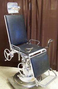 Very Cool Vintage Wocher S Hydraulic Mechanical Doctor S Exam Table Chair