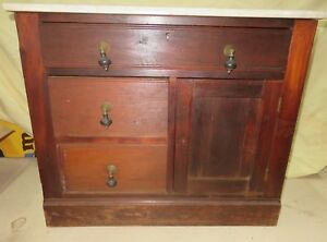 Wash Stand Antique With Marble Top