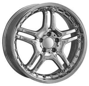 18 Inch Chrome Mercedes Benz Replica Wheels Hollander 85092 480