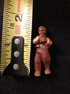 Tiny Hand Carved Antique Man 1 5 H Folk Art Well Carved Unique