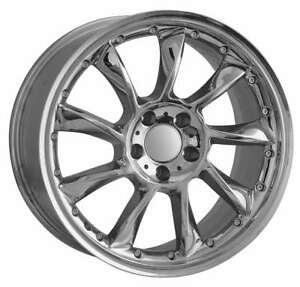 19 Inch Staggered Mercedes Chrome Replica Wheels Hollander 65342 590