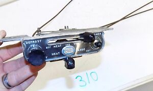 1956 Buick Heater Defroster Blower Vent Control Panel With Knobs