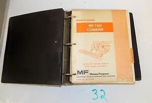 Massey Ferguson Mf 760 Combine Parts Book Catalog Prior To S n 1746 009413 11 78