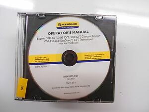 New Holland Boomer 3040 3045 3050 Cab Cvt Easydrive Owner s Operator s Manual Cd