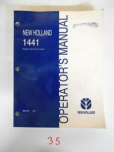 New Holland 1441 Discbine Mower conditioner Operator s Owner s Manual 8 00