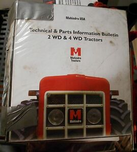 Mahindra Tractor All Models 2wd 4wd Service Bulletin And Update Manual