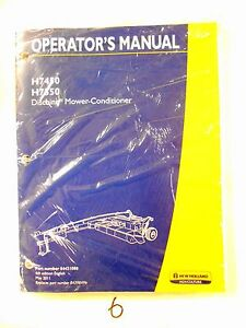 New Holland H7450 H7550 Disc Mower Conditioner Operator s Owner s Manual 5 11