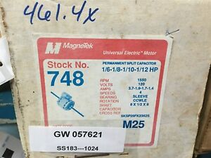 Magnetek 748 Universal Electric Motor 1 6 1 8 1 10 1 12hp 1150 Rpm 120v