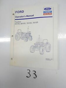 New Holland 5610s 6610s 7610s 7810s Tractor Operator s Manual 2 94